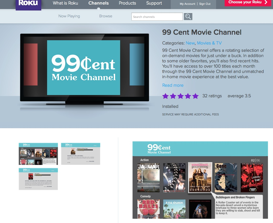 99 cent movie channel Love Films? Try the 99 Cent Movie Channel