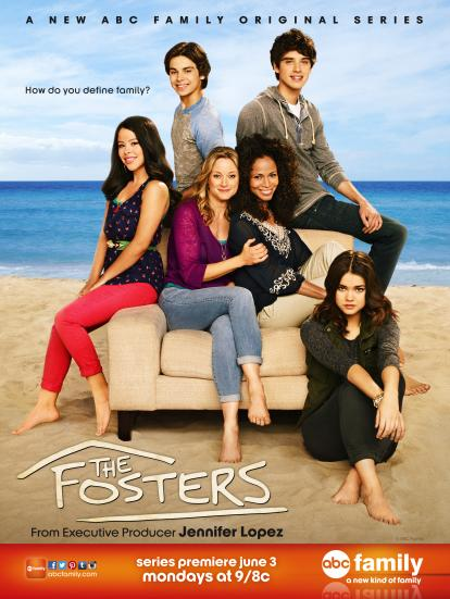 ABCF FOS S1 KeyArt HR Tweet with Jennifer Lopez During The Fosters Premiere!