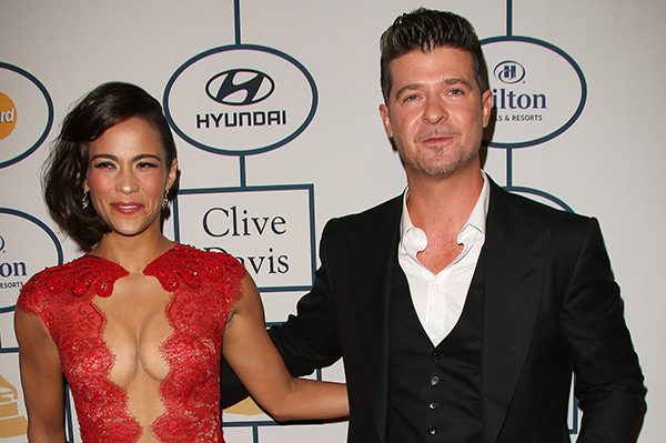 AES 1234571 Robin's in the Thicke of it. Singer and wife Paula Patton announce their separation