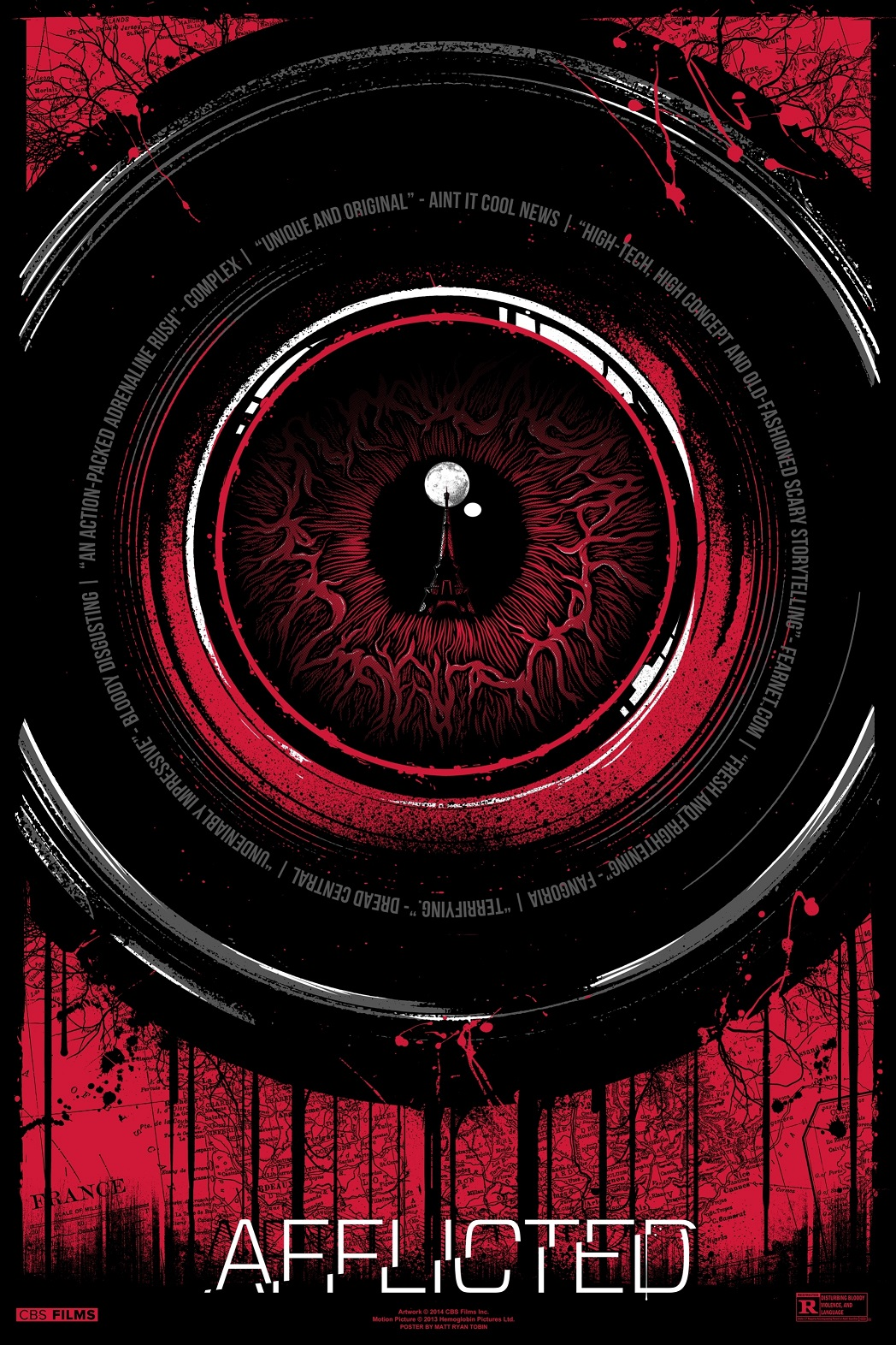 AFFLICTED MattTobin Horror Film Afflicted Gets Cool Alternative Poster