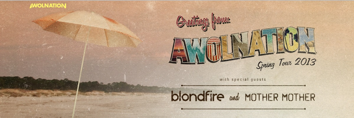 AWOLNATION spring tour Enter In The AWOLNATION Spring Tour 2013 Contest For Chance To Attend Tour Date
