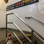 Annabelle Doll in Times Squre Subway Station