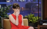Anne Hathaway Stuns in Sylva &amp; Cie on The Tonight Show with Jay Leno