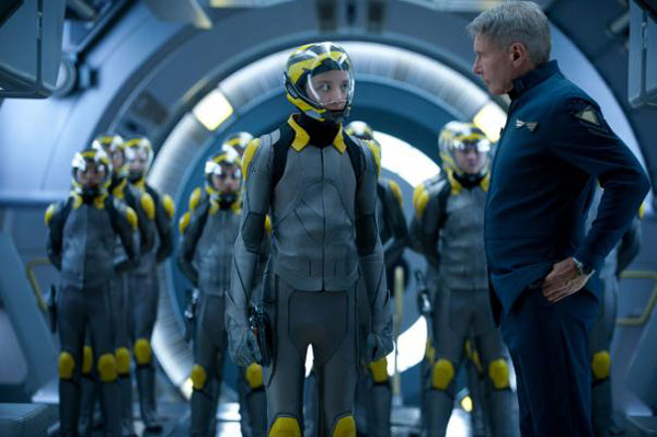 Asa Butterfield & Harrison Ford in Ender's Game
