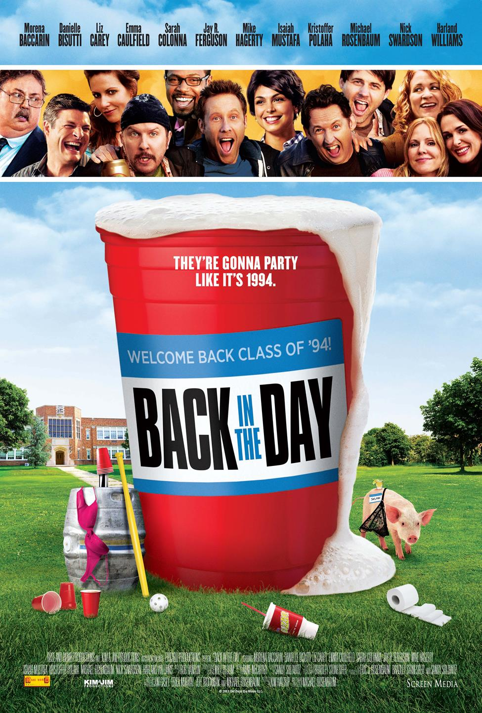BACK IN THE DAY theatrical poster Michael Rosenbaum Goes Back in the Day with Exclusive Poster Debut