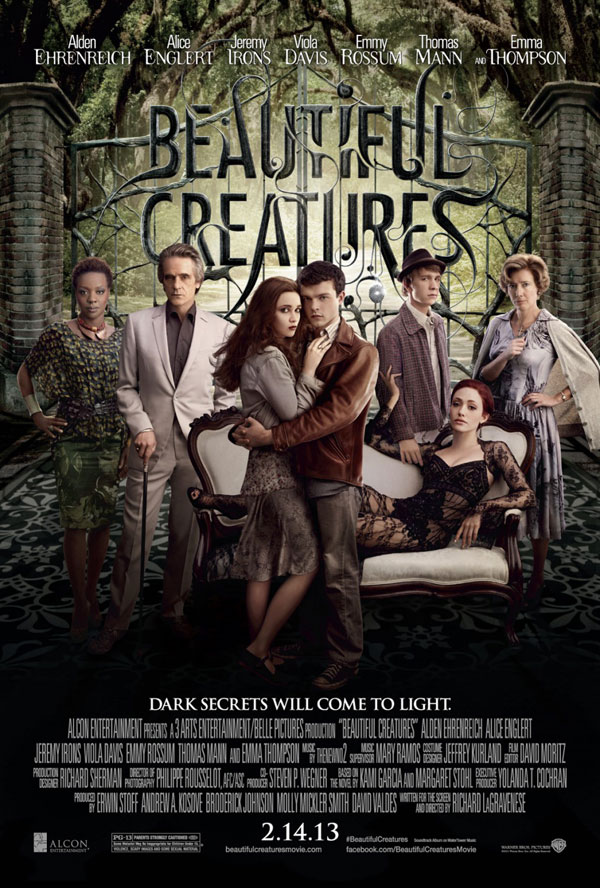Beautiful Creatures Poster ShockYa Presents The Movie Night Podcast with Rudie & Perri; Beautiful Creatures, A Good Day To Die Hard