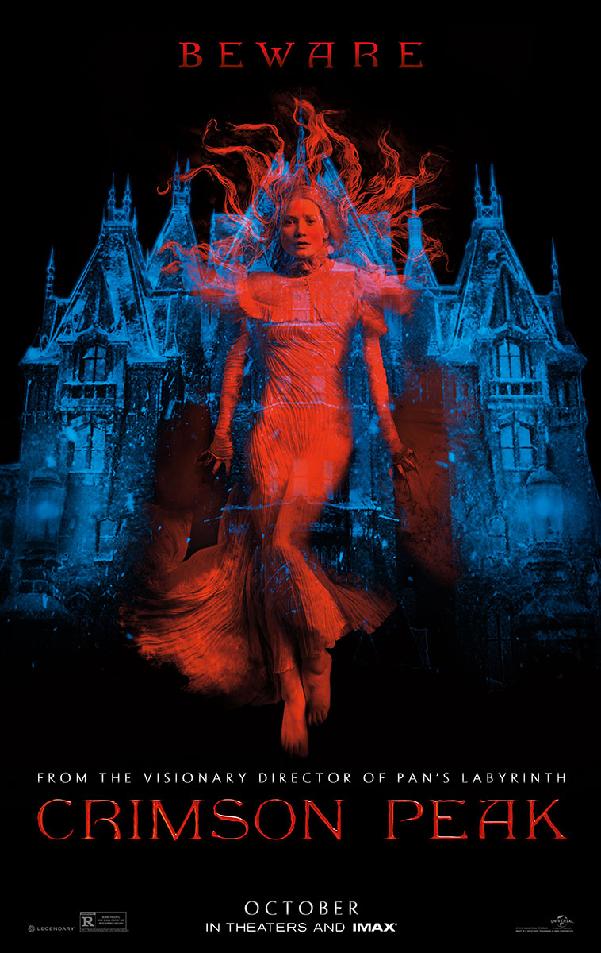 Beware of Crimson Peak in Supernatural Thriller's Poster