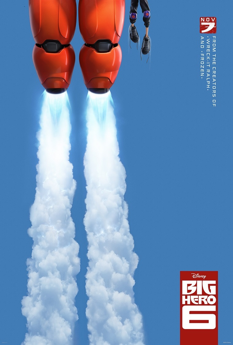 Big Hero 6 Teaser Poster Big Hero 6 Marvels in New Teaser Trailer