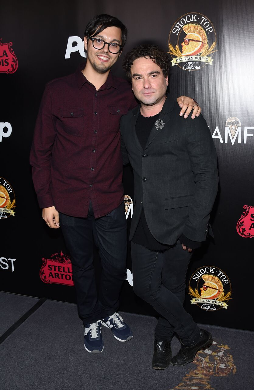 Bobby Miller and Johnny Galecki The Master Cleanse Screamfest Premiere
