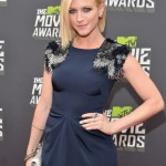 Brittany Snow Hits High Note in Lela Rose at 2013 MTV Movie Awards1 150x150 Christina Ricci, Lucy Hale and Martha MacIssac Arrive in Casadei Heels to MTV Movie Awards