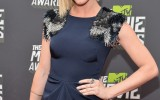 Brittany Snow Hits High Note in Lela Rose at 2013 MTV Movie Awards