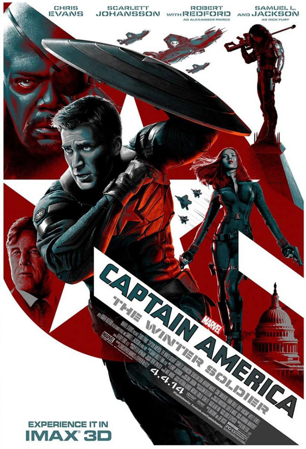 Captain America The Winter Solider Poster Captain America: The Winter Solider Movie Review