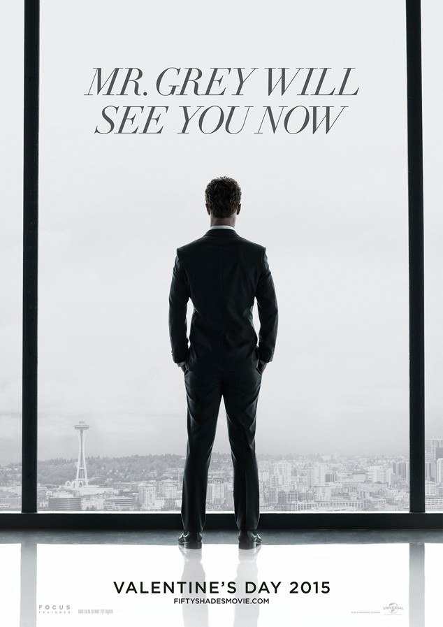 Catch a Glimpse of Christian Grey in First Fifty Shades of Grey Poster First Footage of Fifty Shades of Grey Surfaces at CinemaCon