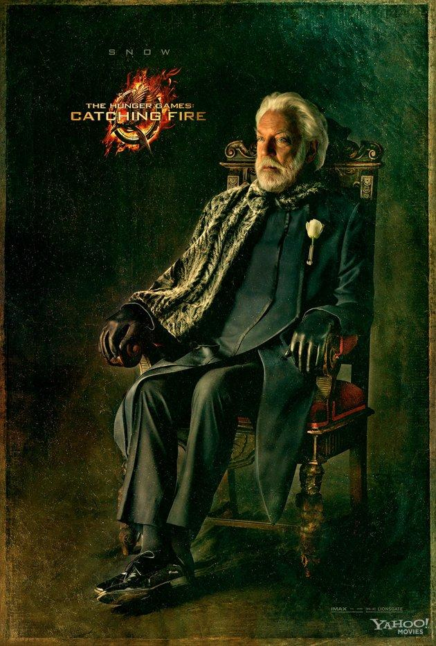 Catching Fire Character Poster Featuring President Snow New Catching Fire Character Poster Featuring President Snow