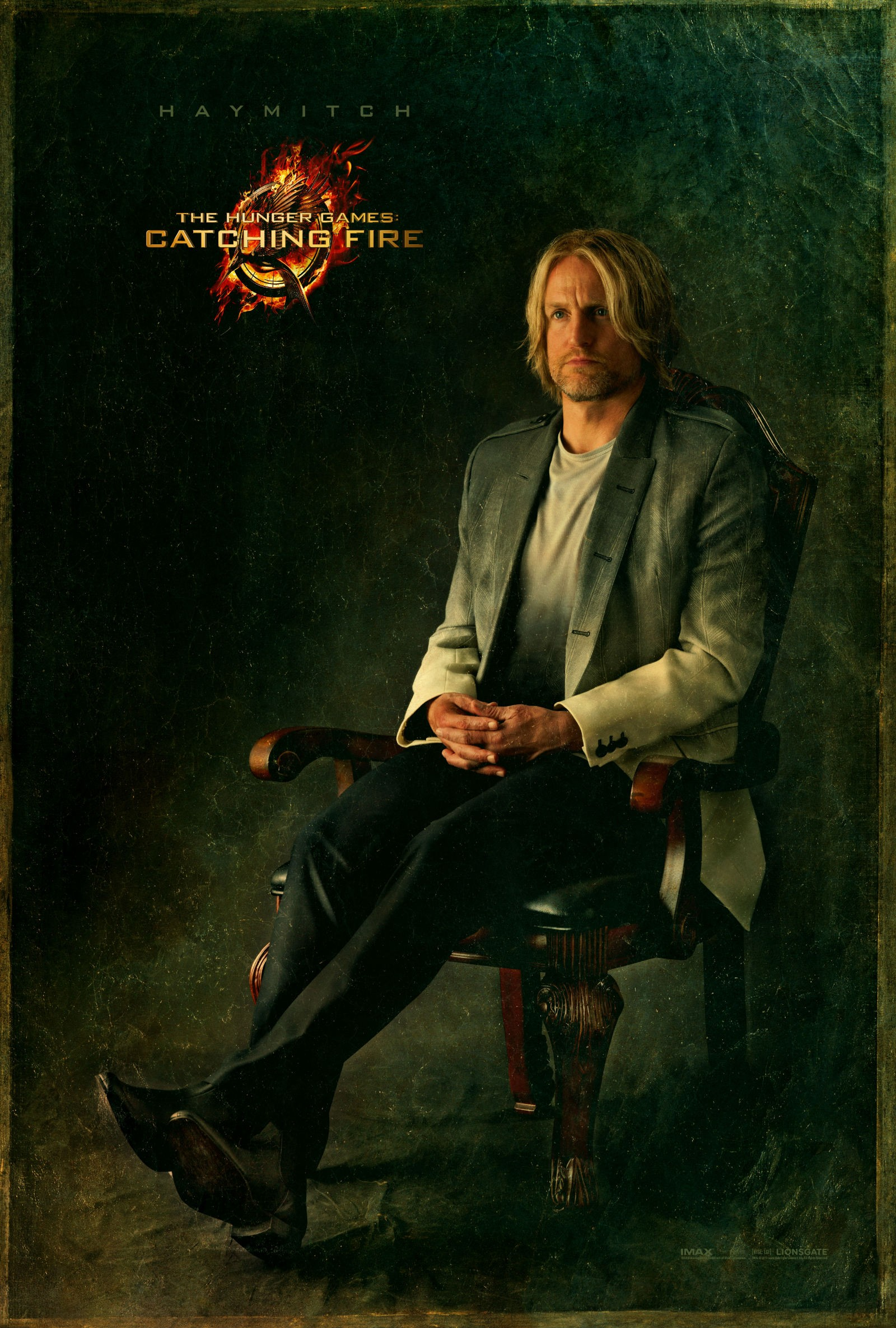 Catching Fire Haymitch Movie Poster New Catching Fire Character Poster Featuring Haymitch