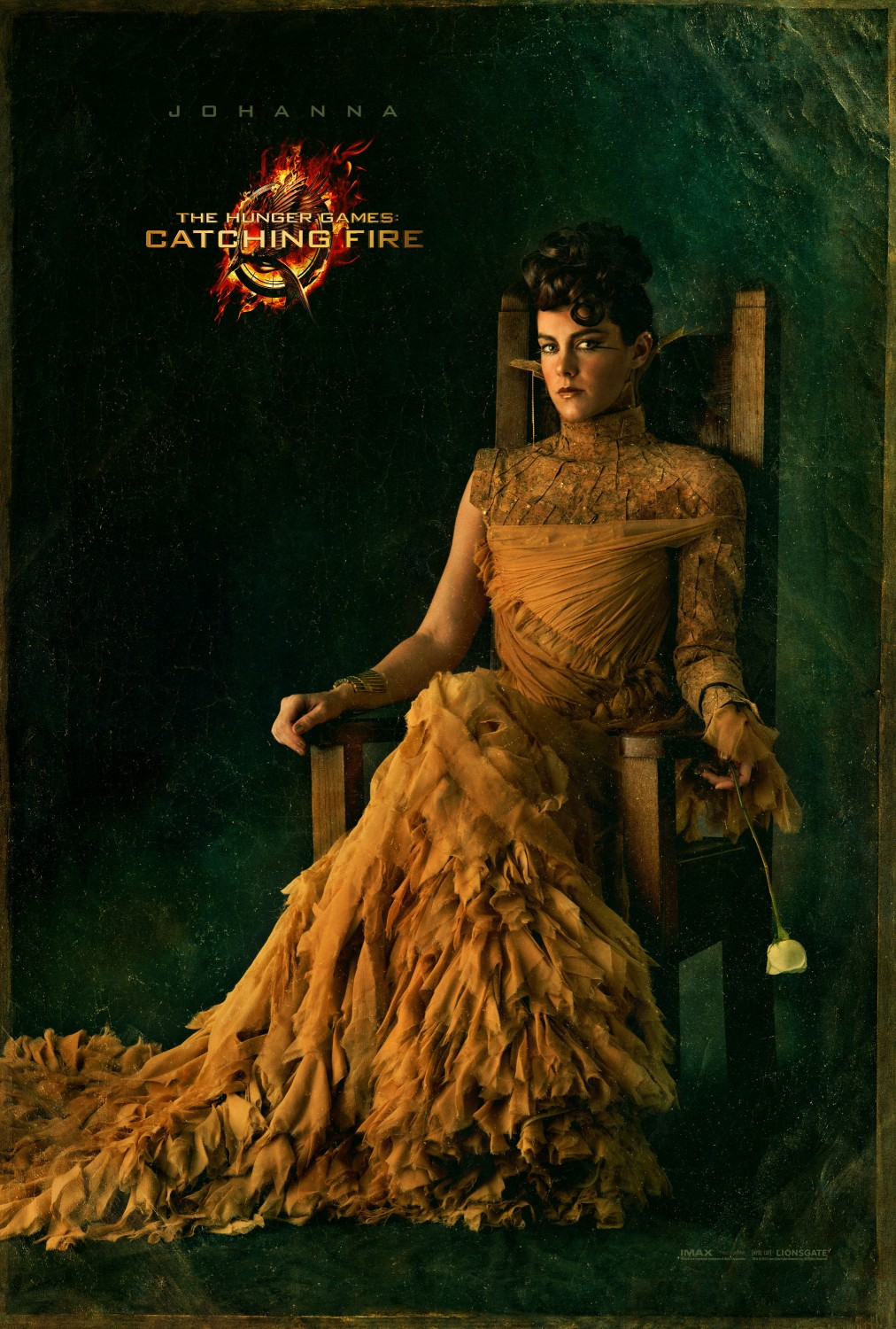 Catching Fire Johanna Character Poster Three More Catching Fire Posters Featuring Johanna, Finnick and Beetee