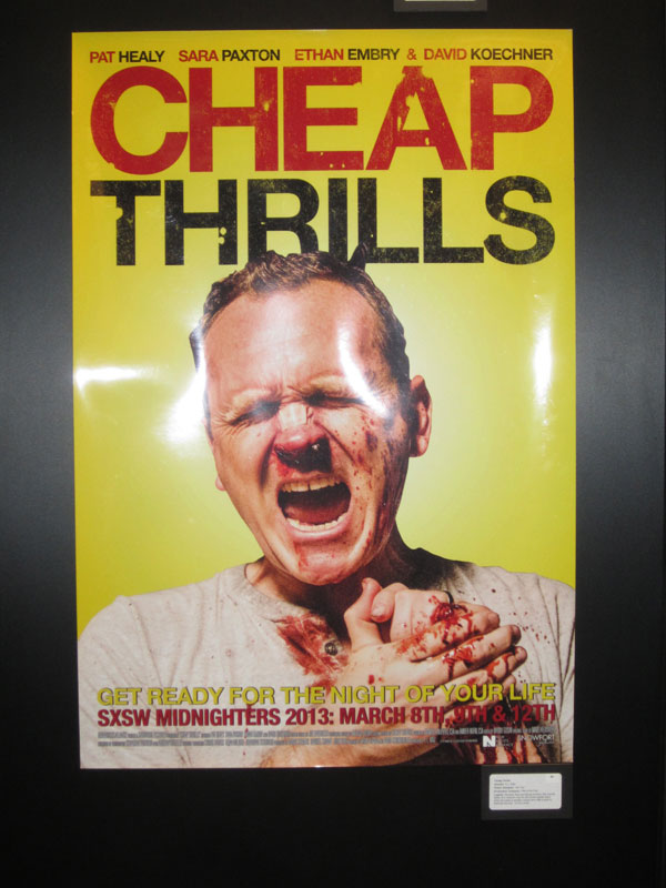 Cheap Thrills SXSW Poster SXSW 2013: Posters For Some Girl(s), Cheap Thrills, Gus And More!