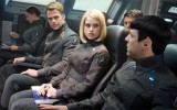 Chris Pine, Alice Eve, and Zachary Quinto in Star Trek Into Darkness