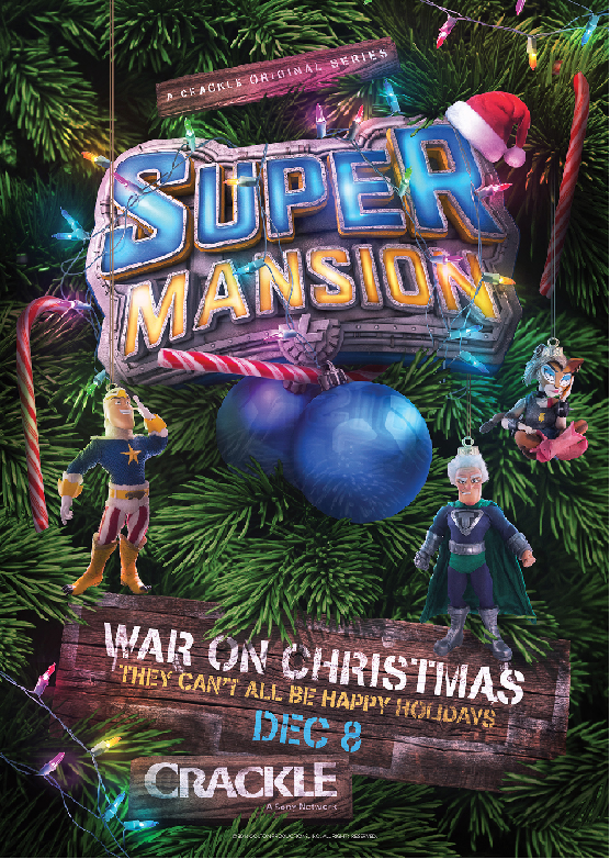 Crackle's SuperMansion Gets Into the Holiday Spirit Early at New York Comic-Con