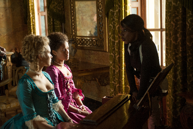 Director Amma Asante on the set of Belle