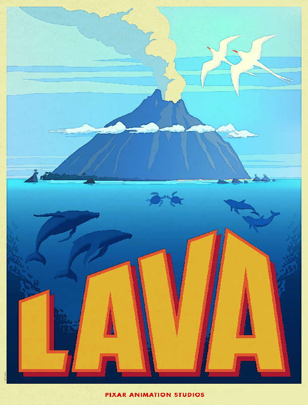 Disney Pixars Lava Poster Go Inside Out with Title Treatment and Synopsis for Disney/Pixar Film