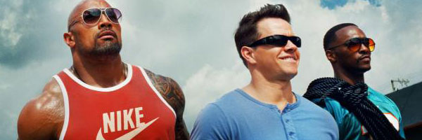 Dwayne Johnson, Mark Wahlberg, and Anthony Mackie in Pain & Gain