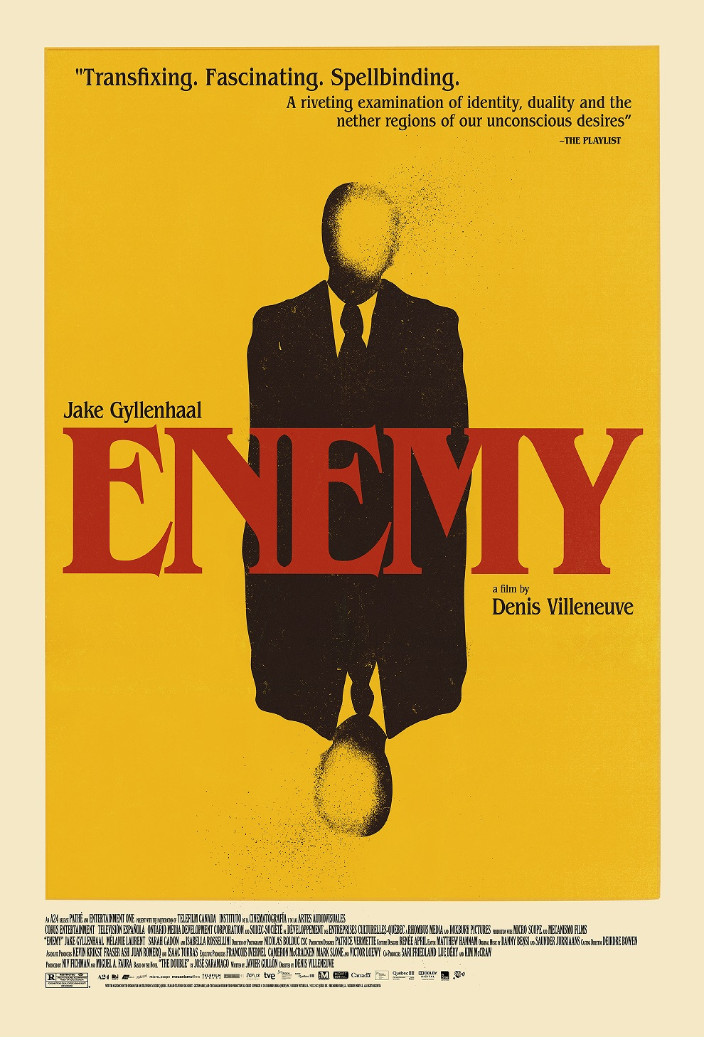 ENEMY OS LAYERED v2 Enemy, Starring Jake Gyllenhaal, Premieres in New York