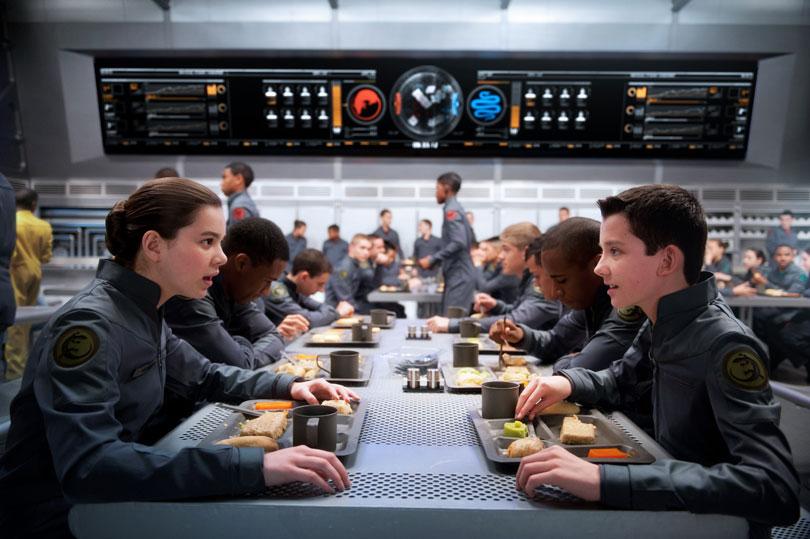 Ender's Game Ender-Petra-Battle-School-Mess-Hall