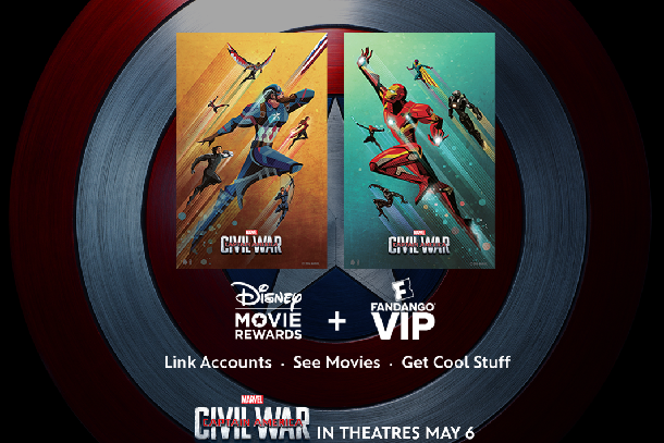 Enter Captain America Civil War with Free Poster by Linking Disney Movie Rewards and Fandango VIP Accounts