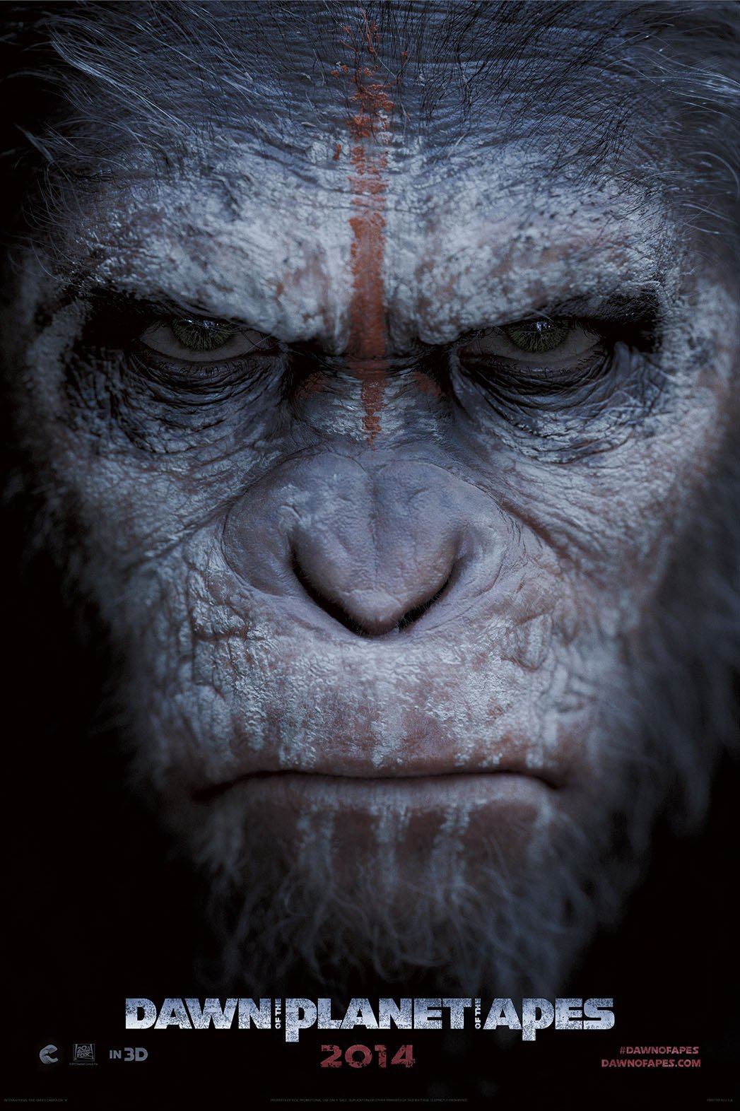 Enter the Dawn of the Planet of the Apes with Official Poster Scroll