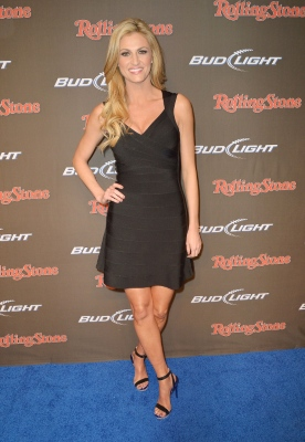 Erin Andrews in Hervé Léger by Max Azria at Rolling Stone LIVE party1 Stars Look Chic in BCBGMAXAZRIA Group Designs at Super Bowl XLVII