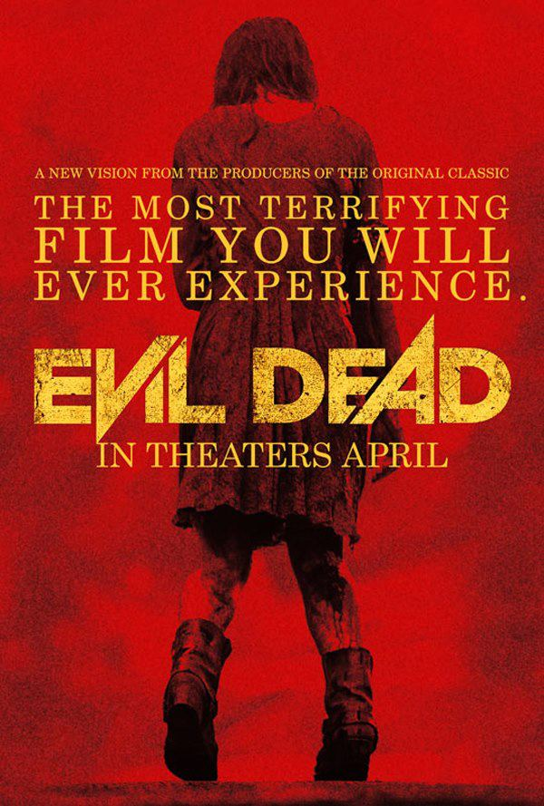 Evil Dead Red Movie Poster Evil Dead Gets A Bad Ass New Poster