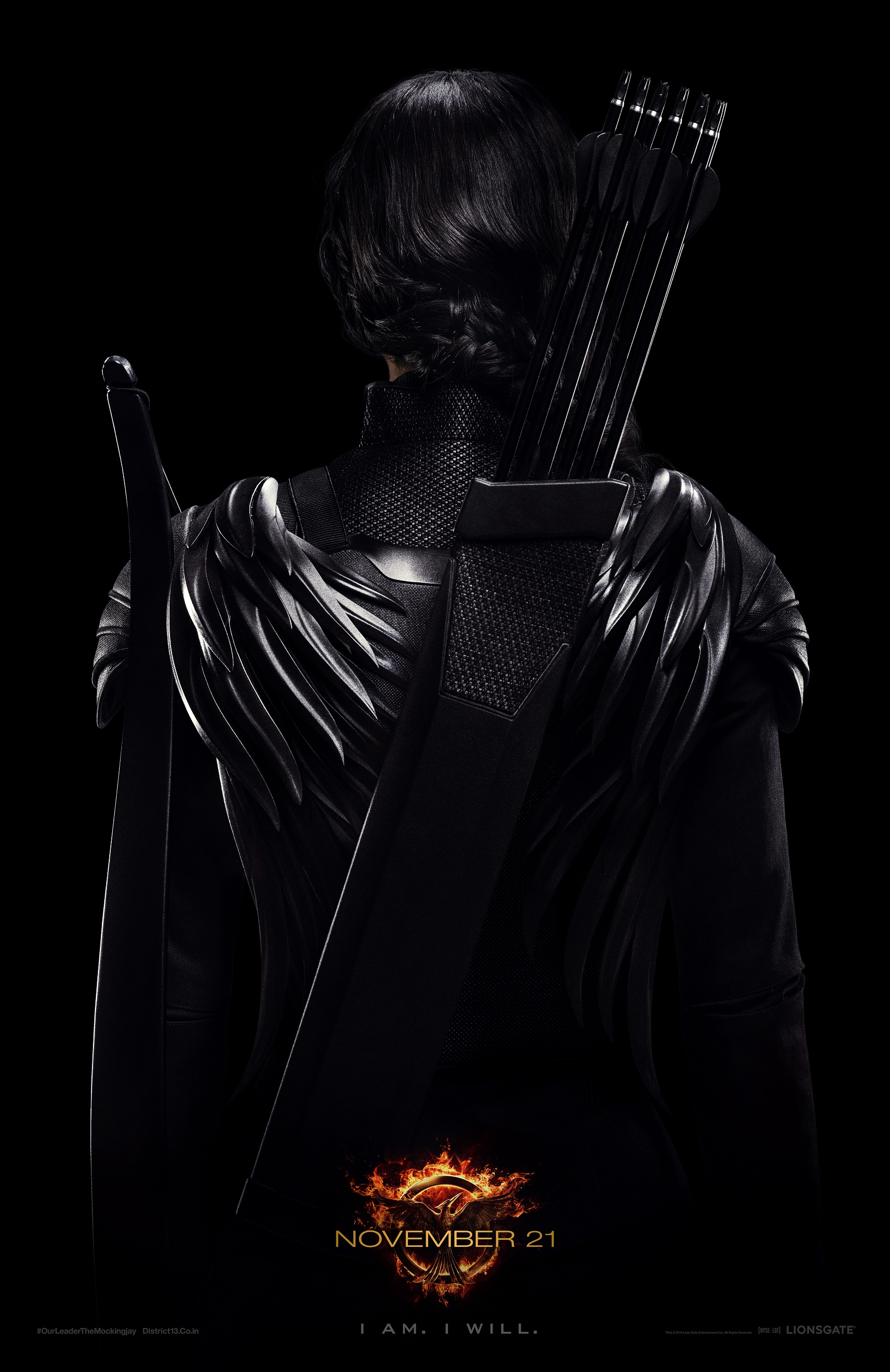 FIN02 Seashore 1Sht Katniss Tsr VF New Hunger Games: Mockingjay Teaser Poster Shows Rebellious Katniss