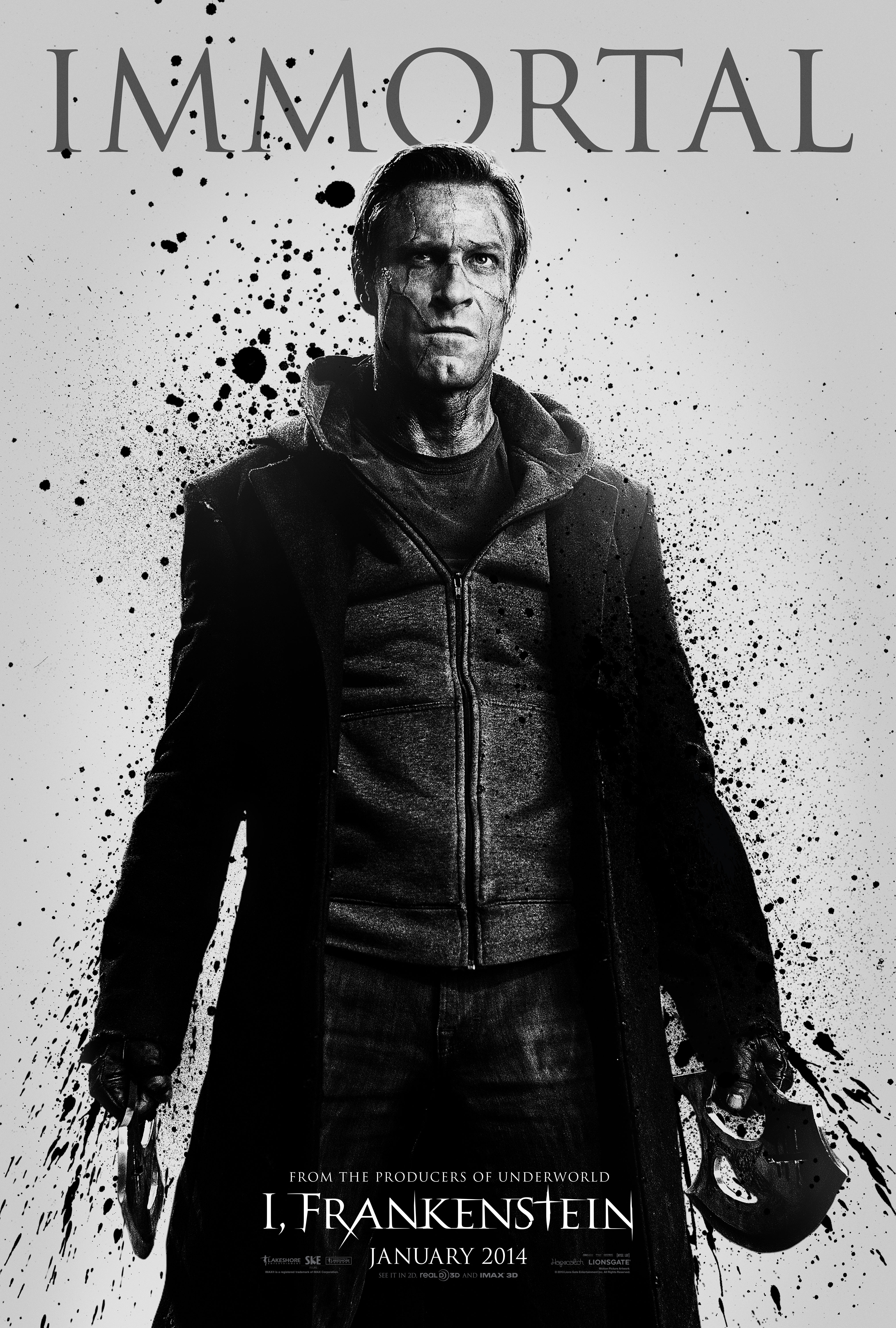 FIN03 IFrank 1Sht Immortal Good and Evil Immortals Battle in Three New I, Frankenstein Posters