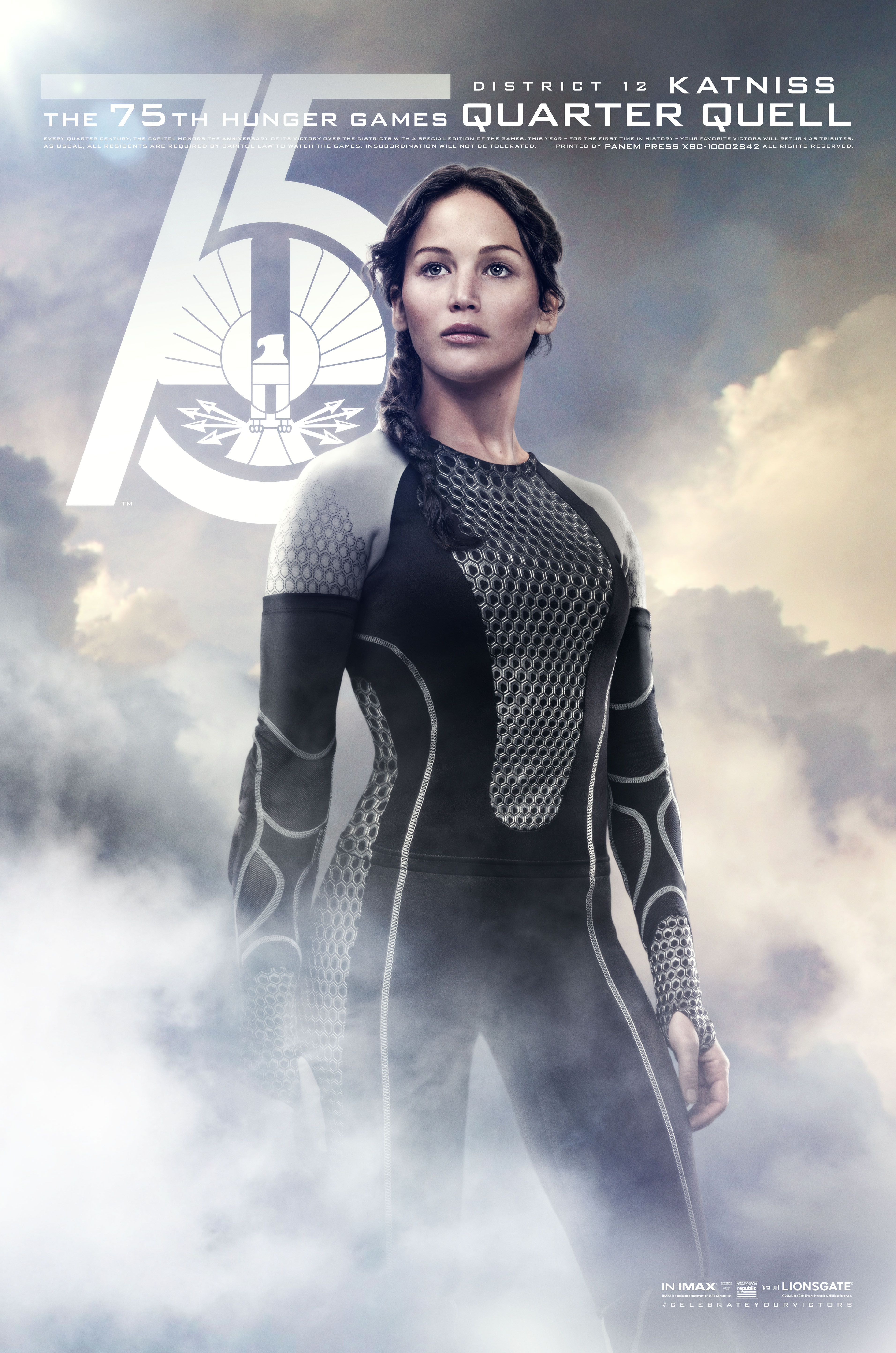 FIN03 Idiom 1Sht QQ Katniss1 Catching Fire Victors Banner Unveiled on The Hunger Games Explorer