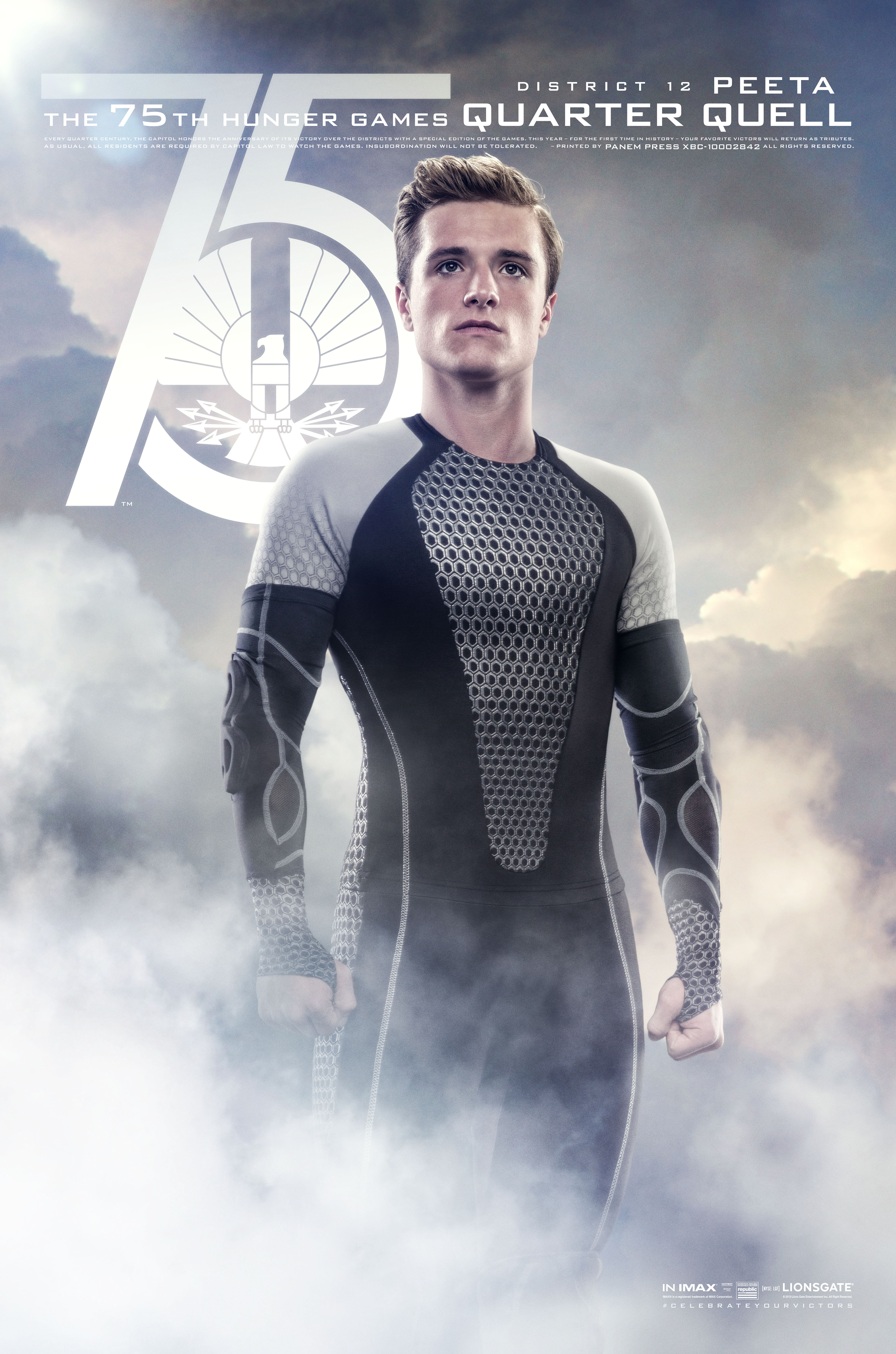 FIN03 Idiom 1Sht QQ Peeta1 Catching Fire Victors Banner Unveiled on The Hunger Games Explorer