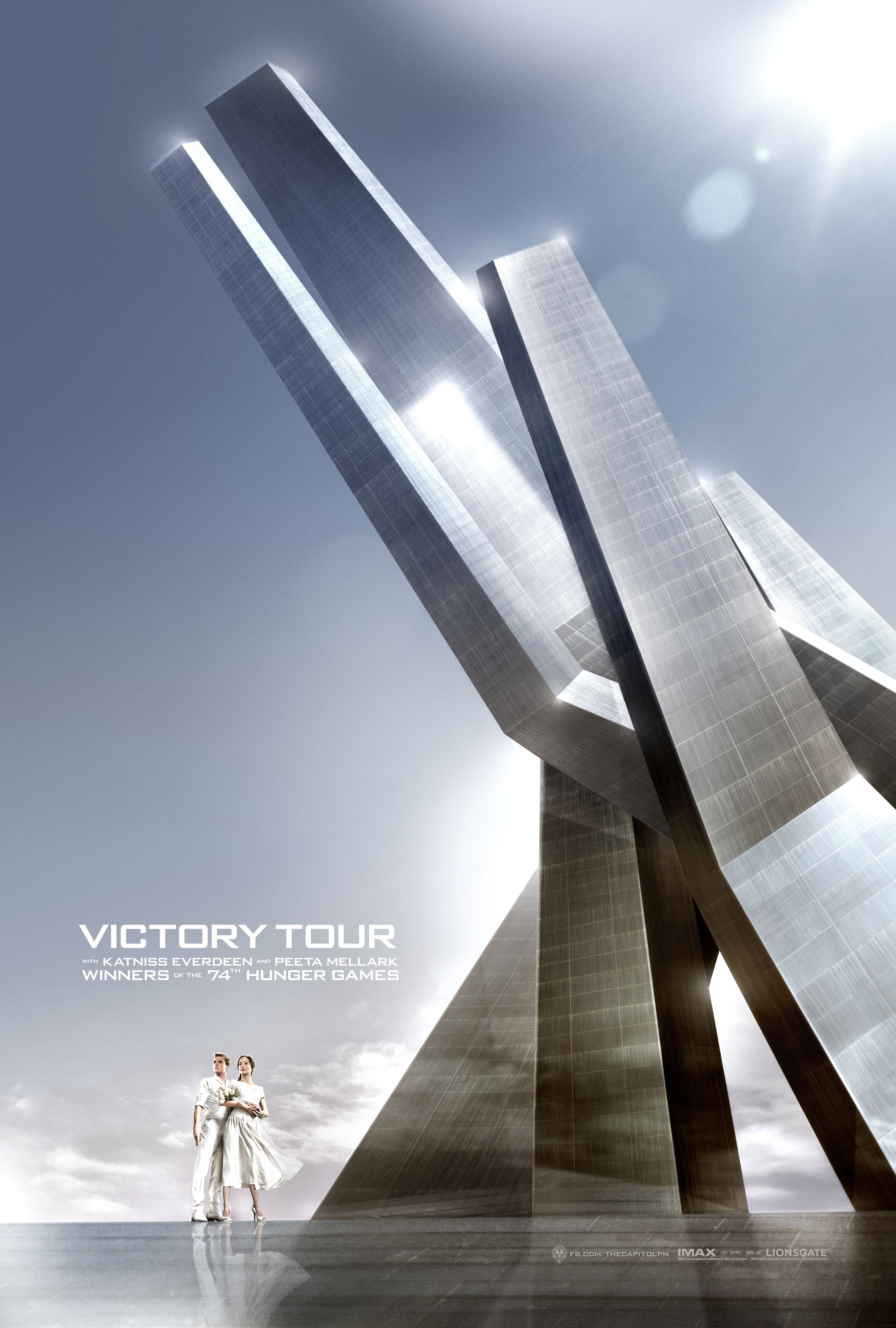FIN03 Idiom 1Sht VT Bldg Trim Meet the Victors In New The Hunger Games: Catching Fire Victory Tour Posters