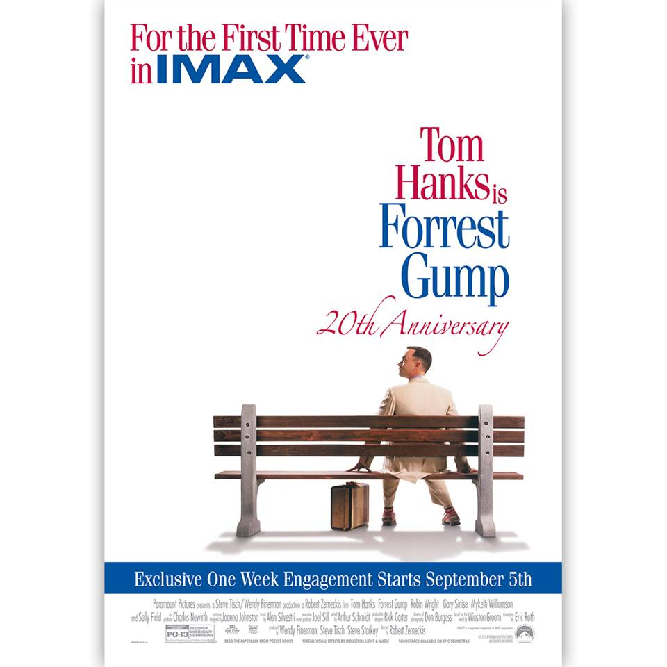 Forrest Gump IMAX Forrest Gump Coming Back to Theaters for Limited Time