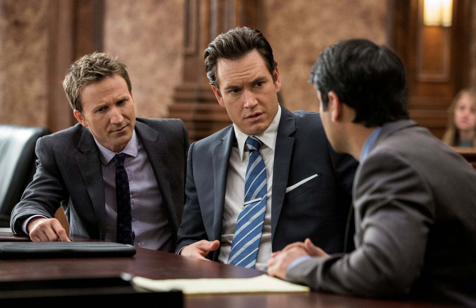 Franklin and Bash Season 3 Finale Mark Paul Gosselaar and Breckin Meyer