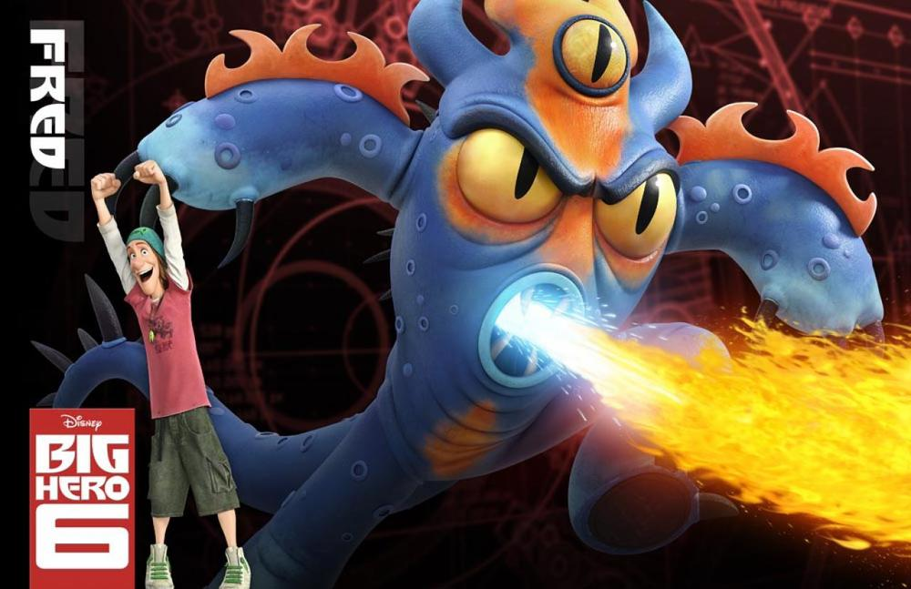 Fred Big Hero 6 Character Pose Walt Disney Animation Studios Unleashes Big Hero 6 Lineup and Official Character Descriptions