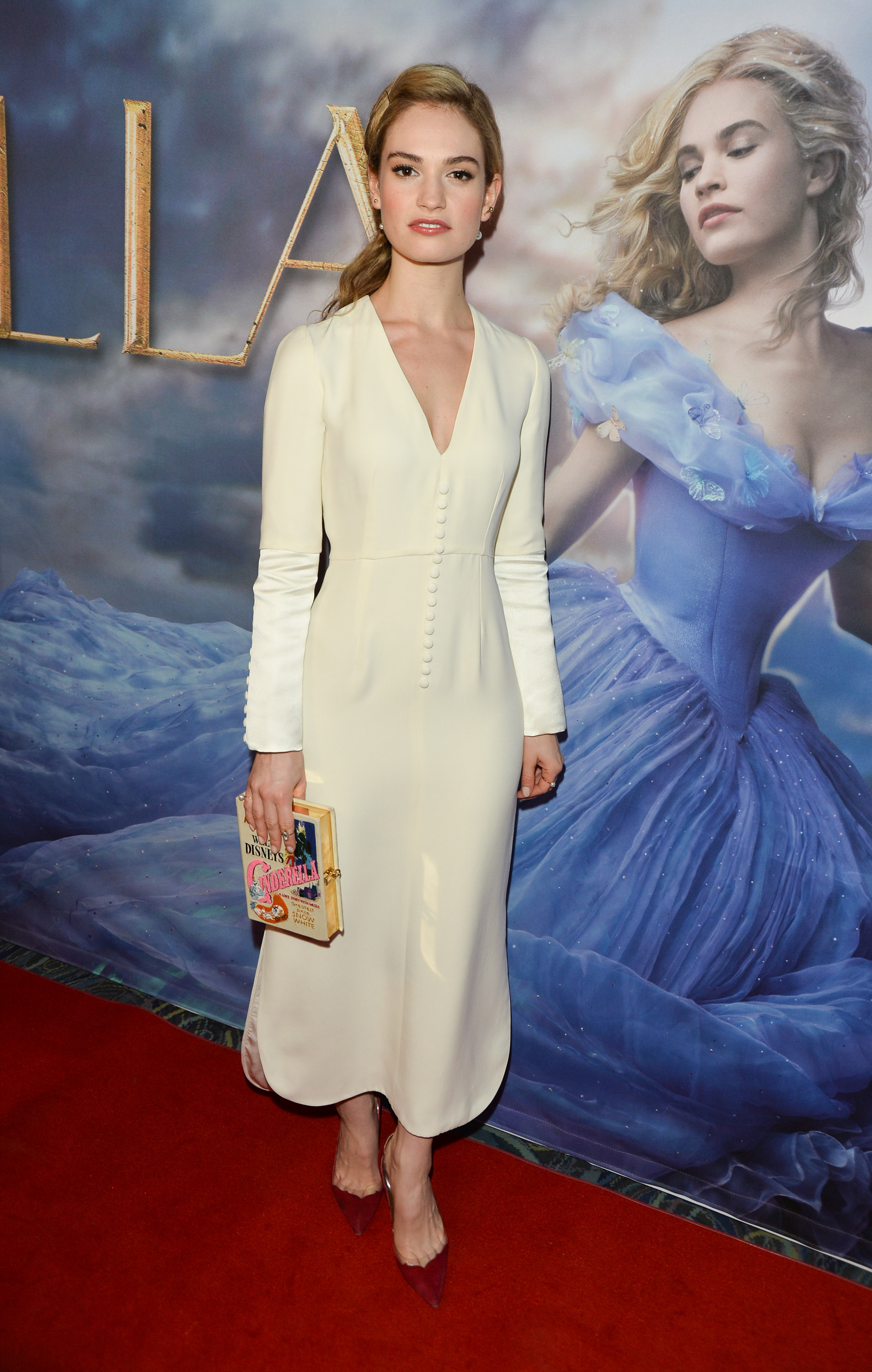 Lily James Promoting