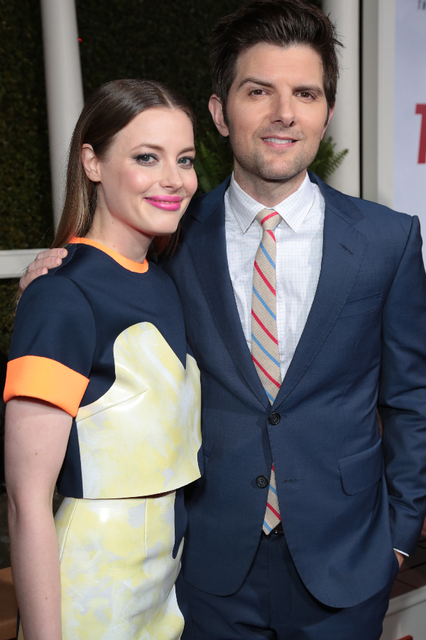 Gillian Jacobs and Adam Scott attend as Paramount Pictures presents the Los Angeles premiere of
