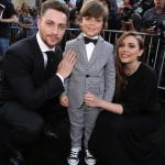 Godzilla Premiere Aaron Taylor Johnson Elizabeth Olsen 150x150 Check Out Images from the Godzilla Black Carpet Event