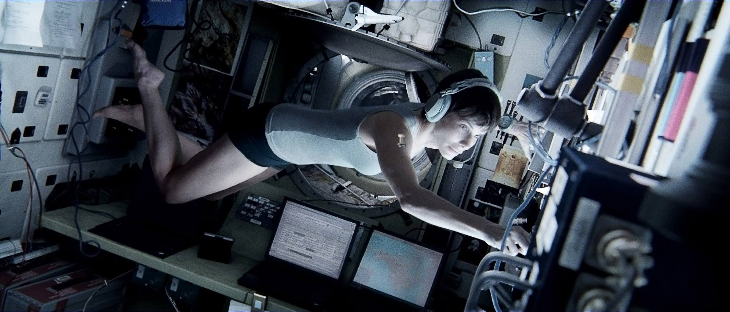 Gravity1 New Gravity Trailer Gives Another Look at Intense Space Scene
