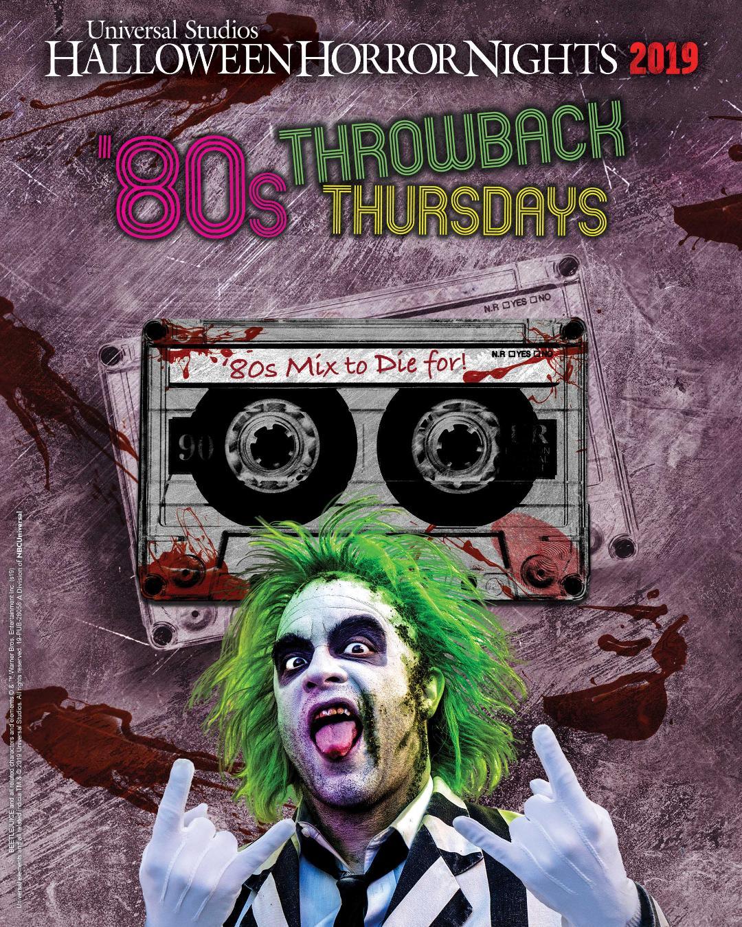 Halloween Horror Nights 2019 80s Throwback Thursdays Key Art