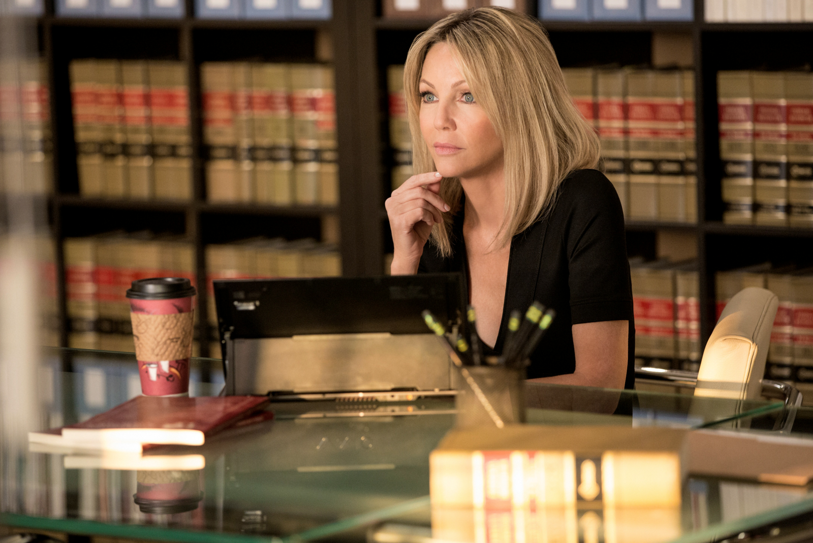 Heather Locklear in Franklin and Bash Season 3 Finale Franklin and Bash Take On Controntations in New Season 3 Finale Clip