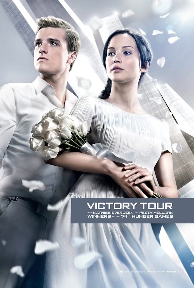 Hunger Games Catching Fire Victory Tour Poster Victory Tour Poster For The Hunger Games: Catching Fire Revealed