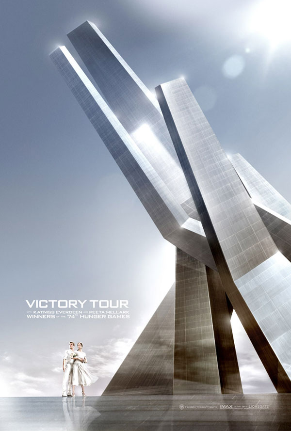 Hunger Games Catching Fire Victory Tour Poster1 Movie News Cheat Sheet: No Directing Nod? No Big. Argo Takes Best Picture!