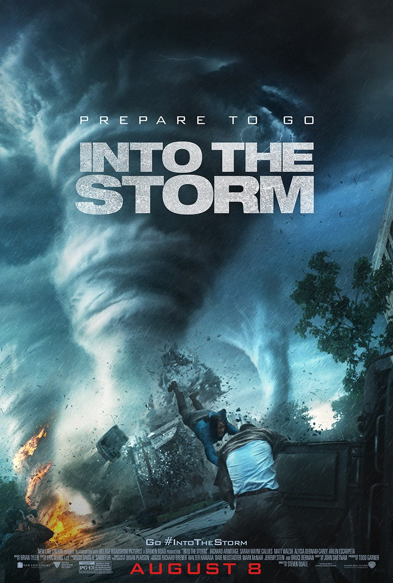 ITS OneSheetPoster New Poster and Trailer for Into the Storm Show the Brutality of Killer Tornadoes