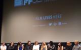Actors (l-ri) Benicio Del Toro, Maya Rudolph, Joanna Newsom, Michael K. Williams, Jena Malone, Hong Chau, Jena Malone and Owen Wilson at the Inherent Vice New York Film Festival Press Conference